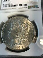 1900-O NGC MINT STATE 61 MORGAN SILVER DOLLAR CERTIFIED