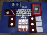 HUGE SILVER COIN LOT SCRAP SILVER SETS 90  PROOFS AND COLLEC