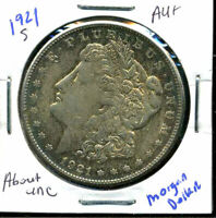 1921 S AU MORGAN DOLLAR 90 SILVER COIN ABOUT UNCIRCULATED COMBINE SHIP$1 WC848