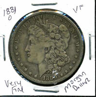 1881 O VF MORGAN DOLLAR  FINE 90 SILVER COIN U.S  COMBINE SHIP $1WC876
