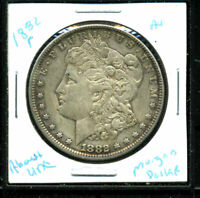 1882 P AU MORGAN DOLLAR 90 SILVER COIN ABOUT UNCIRCULATED COMBINE SHIP$1 C3105