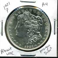 1921 P AU MORGAN DOLLAR 90 SILVER COIN ABOUT UNCIRCULATED COMBINE SHIP$1 WC964