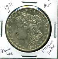 1921 S AU MORGAN DOLLAR 90 SILVER COIN ABOUT UNCIRCULATED COMBINE SHIP$1 WC968