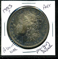 1883 P AU MORGAN DOLLAR 90 SILVER COIN ABOUT UNCIRCULATED COMBINE SHIP$1 C1626