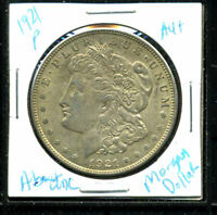 1921 P AU MORGAN DOLLAR 90SILVER COIN ABOUT UNCIRCULATED COMBINE SHIP$1 WC3136