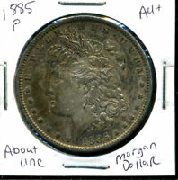 1885 P AU MORGAN DOLLAR 90 SILVER COIN ABOUT UNCIRCULATED COMBINE SHIP$1 WC882
