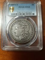 1889 CC VF35 PCGS  ONLY 350,000 MINTED KEY DATE NEARLY EXTRA FINE