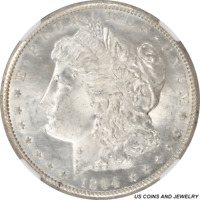 1894-S MORGAN SILVER DOLLAR NGC MINT STATE 63 STUNNING IRIDESCENT WHITE DIE POLISH