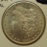 1881 S MORGAN DOLLAR UNCIRCULATED MINT STATE 90 SILVER $1 US COIN PROOF LIKE