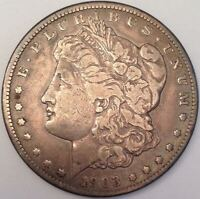 1903-S MORGAN SILVER DOLLAR VAM-7 SLANTED DATE, S TILTED LEFT - FINE/VF QUALITY