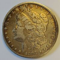 1893-O MORGAN SILVER DOLLAR $1 NEW ORLEANS W/ VF DETAILS