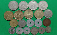 WORLD FOREIGN LOT OF 20 DIFFERENT OLD GREECE COINS 1912 1999