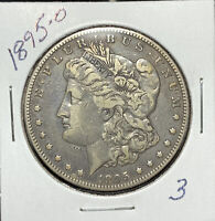 1895-O MORGAN SILVER DOLLAR,  VF DETAILS