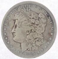 1889-CC MORGAN SILVER DOLLAR - CIRCULATED CONDITION  FINE