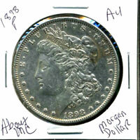1898 P AU MORGAN DOLLAR 90 SILVER COIN ABOUT UNCIRCULATED COMBINE SHIP$1 C1299
