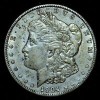 1904-P $1 MORGAN SILVER DOLLAR  AU ALMOST UNCIRCULATED   NOW TRUSTED