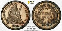 1865 LIB. SEATED 1/2 DIME   PCGS PR64 CAMEO. ONLY 500 MINTED   FANTASTIC