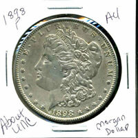 1898 P AU MORGAN DOLLAR 90 SILVER COIN ABOUT UNCIRCULATED COMBINE SHIP$1 C1288