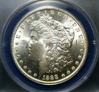 CHOICE 1888-O MORGAN DOLLAR $1 ANACS MINT STATE 64 BETTER DATE EXQUISITE FROSTY GEM