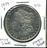 1879 P BU MORGAN DOLLAR UNCIRCULATED SILVER MINT STATE COMBINE SHIP$1 COINWC903