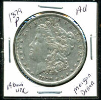 1879 P AU MORGAN DOLLAR 90 SILVER COIN ABOUT UNCIRCULATED COMBINE SHIP$1 C1159