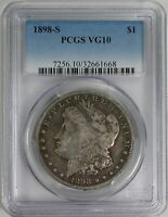 1898 S MORGAN SILVER DOLLAR PCGS VG PROBLEM FREE CERTIFIED EXAMPLE