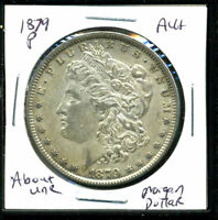1879 P AU MORGAN DOLLAR 90 SILVER ABOUT UNCIRCULATED COMBINE SHIP$1 COINWC1385