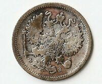 RUSSIA 10 KOPEKS 1901 FINE  Y20A.2 50  SILVER ALLOY LAMBAGH COLLECTION