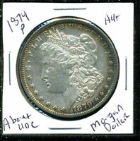 1879 P AU MORGAN DOLLAR 90 SILVER COIN ABOUT UNCIRCULATED COMBINE SHIP$1 C1587