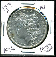 1879 P AU MORGAN DOLLAR 90 SILVER COIN ABOUT UNCIRCULATED COMBINE SHIP$1WC1065