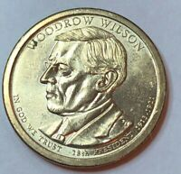 2013 P WOODROW WILSON GOLDEN PRESIDENTIAL DOLLAR  CIRCULATED