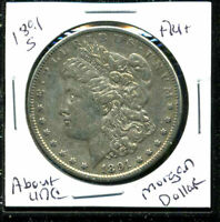 1891 S AU MORGAN DOLLAR 90 SILVER COIN ABOUT UNCIRCULATED COMBINE SHIP$1 C1600