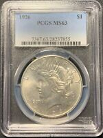 1926 $1 PEACE DOLLAR PCGS MINT STATE 63
