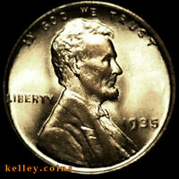 1935 LINCOLN WHEAT RED-BROWN CENT BU