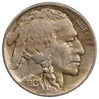 1913-D TYPE 2 BUFFALO NICKEL -  EXTRA FINE CONDITION, FIRST YEAR ISSUE