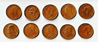 TEN GREECE 2 DRACHMAI   GROUP2 OF 6  COINS DATED 1970 1980'S VF/AU $0.99 START