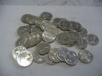 LOT OF 40 1963   CANADA  QUARTERS   SILVER  COINS  25       CENT  PIECES