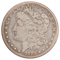 1889-CC MORGAN SILVER DOLLAR - CIRCULATED CONDITION -  GOOD,