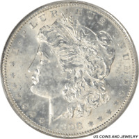 1898-S MORGAN SILVER DOLLAR PCGS MINT STATE 61 UNCIRCULATED SILVER DOLLAR