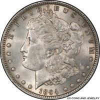 1894 MORGAN SILVER DOLLAR PCGS MINT STATE 62 SELECT UNCIRCULATED KEY DATE