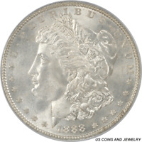 1888 MORGAN SILVER DOLLAR PCGS MINT STATE 66 FROSTY WHITE ROLLING LUSTER