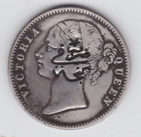 BRITISH INDIA 1840 SILVER COINS BRITISH INFLUENCE COUNTER ST