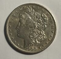 1900-S MORGAN SILVER DOLLAR EXTRA FINE  CLEANED 12993