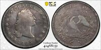 1795 FLOWING HAIR SILVER DOLLAR   2 LEAF VERSION PCGS VF DETAILS - CLEANED