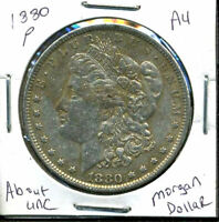 1880 P AU MORGAN DOLLAR 90 SILVER COIN ABOUT UNCIRCULATED COMBINE SHIP$1 1502