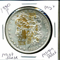 1880 P BU MORGAN DOLLAR UNCIRCULATED SILVER MINT STATE COMBINE SHIP$1 COIN 1198