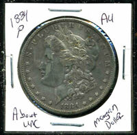 1884 P AU MORGAN DOLLAR 90 SILVER COIN ABOUT UNCIRCULATED COMBINE SHIP$1 1099