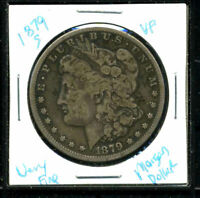 1879 S VF MORGAN DOLLAR 90 SILVER  FINE U.S.A COMBINE SHIP $1 COIN 3946