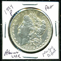 1884 P AU MORGAN DOLLAR 90 SILVER COIN ABOUT UNCIRCULATED COMBINE SHIP$1 4153
