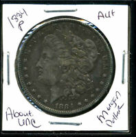 1884 P AU MORGAN DOLLAR 90 SILVER COIN ABOUT UNCIRCULATED COMBINE SHIP$1 851
